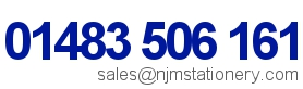 01483 506 161 | sales@njmstationery.com