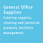 General Office Supplies - Catering supplies, cleaning and janitorial products, facilities management.